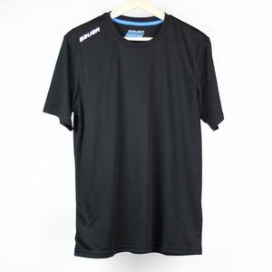 Bauer Mens T-Shirt Hockey Fitness Size Small Black